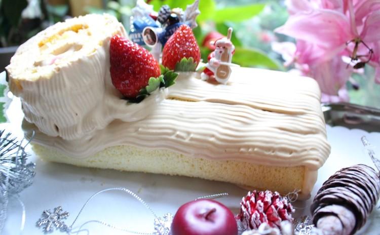 クリスマスロールケーキ(キャラメルクリーム)
