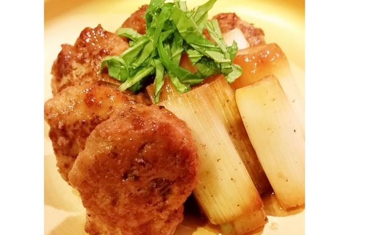ふわふわ鶏つくねとネギのタレ焼き(単品定価:4,500円)