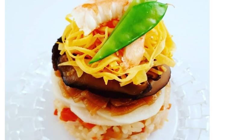 お砂糖不使用酢飯と具材で作る五目ちらし寿司(単品定価:15,000円)