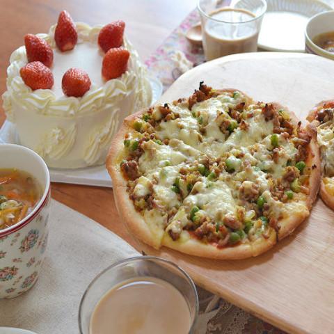 ・デコレーションケーキ・サクサクカレーピザ