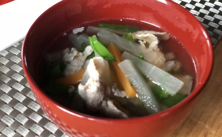 松阪豚の沢煮椀