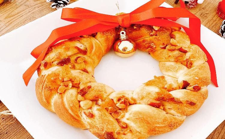 メープルバターナッツのクリスマスツリーパン