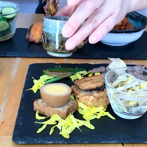川汁虾仁の時の季節の前菜