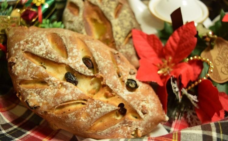 クリスマスにはリッチなスタイルで♪クリームチーズがいっぱい♡木の葉パン♪