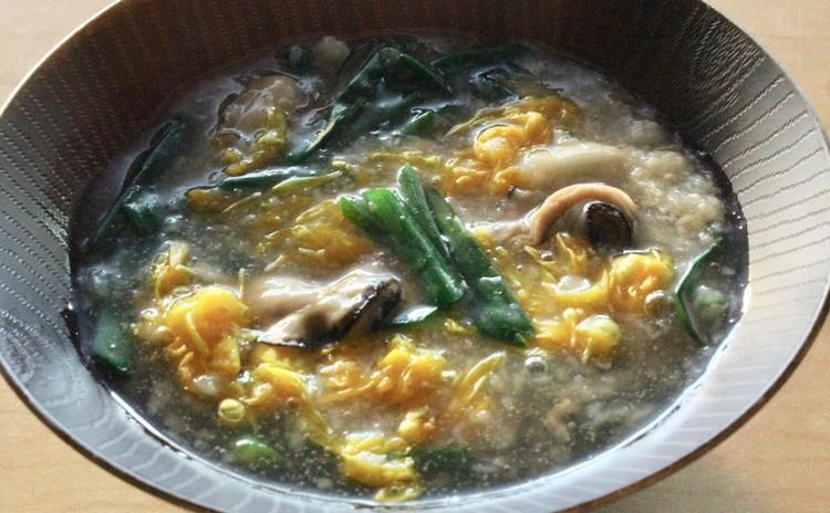 長芋と牡蠣と菊花のスープ煮