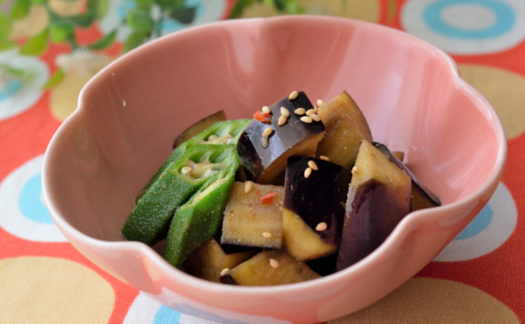茄子とオクラの中華風煮びたし