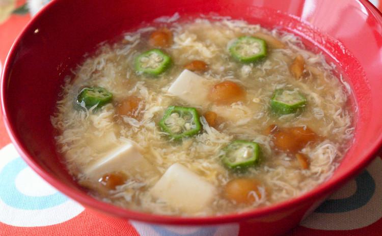 なめこと豆腐のとろとろ中華スープ