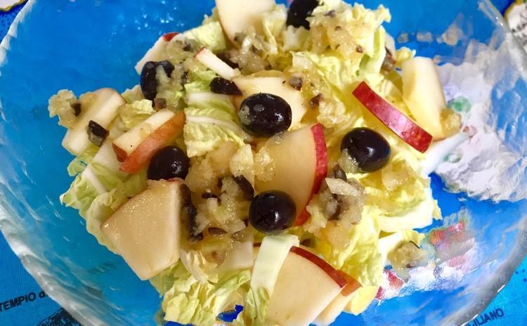リンゴと白菜の冬のサラダ