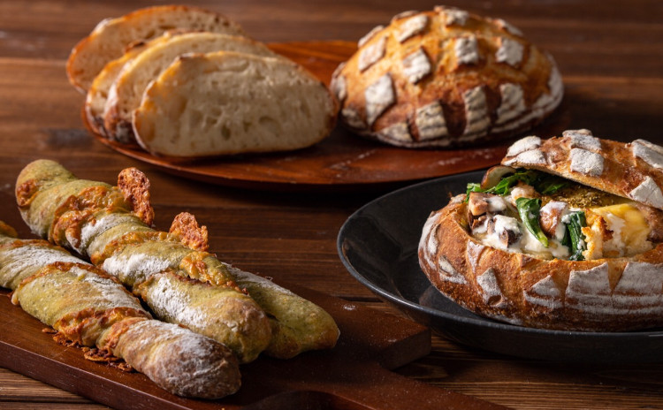 酒粕酵母パン!濃厚酒粕ブール&緑野菜のチーズバトン、酒粕クリームパングラタン