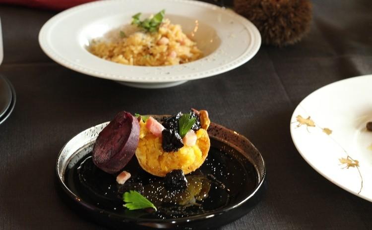 1月ほっこりメニュー。牛肉料理・リゾーニ・カブ・キャベツのスープ・安納芋のグリル