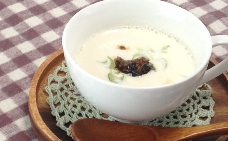 豆乳スープ&食べるラー油