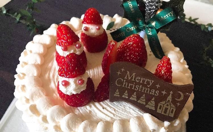 クリスマス 1ホールお持ち帰り!デコレーションケーキ