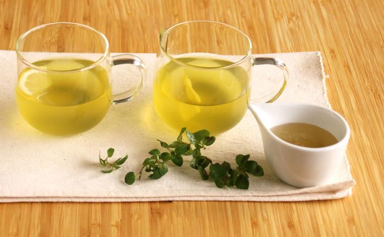 【ウェルカムドリンク】爽やかなミント蜜緑茶