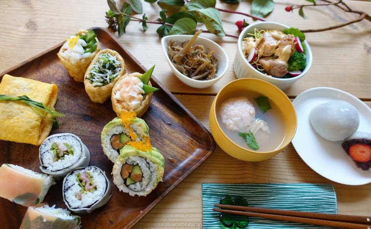和洋折衷のおもてなし フォトジェニックお寿司といちご大福