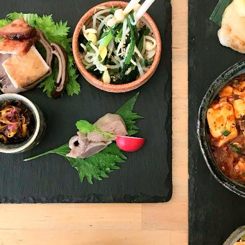 麻婆豆腐の時の季節の前菜