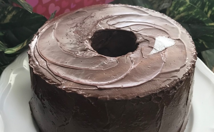 「チョコレートシフォン♡」バレンタインを先どり17㎝丸