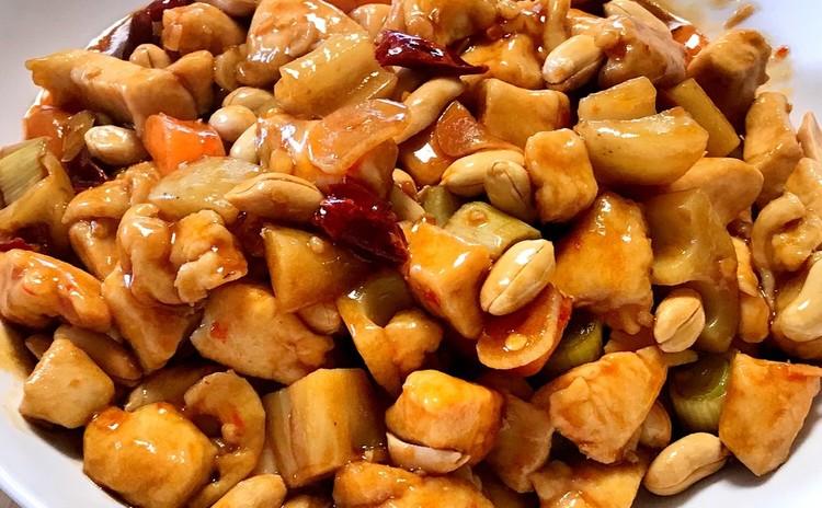 鶏肉とピーナッツのピリ辛炒め(宮保鶏丁)