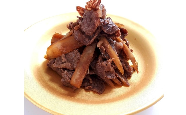牛肉とごぼうの時雨煮(単品定価:9,500円)