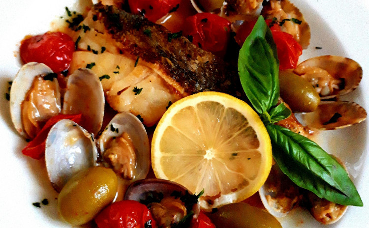 【砂糖不使用★ヘルシー洋食】①切身で作るシンプルアクアパッツァ、②シンプルトマトパスタ