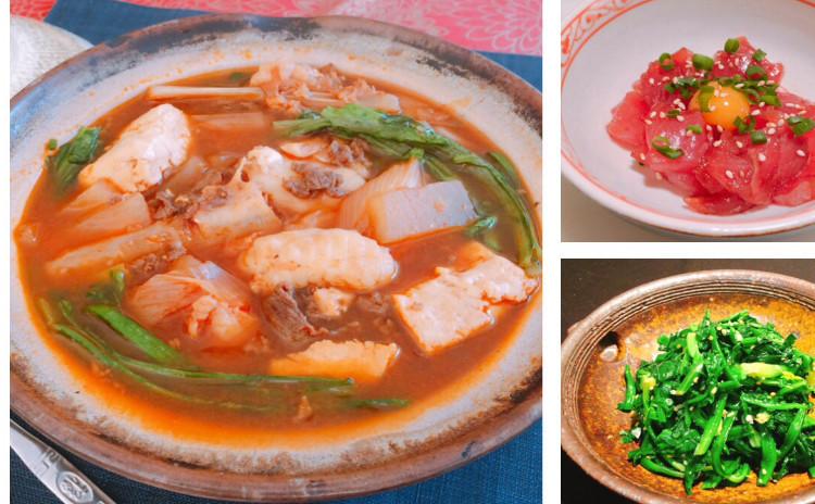 チゲ鍋、ユッケ、海鮮チヂミ、ナムル〜冬の韓国料理〜