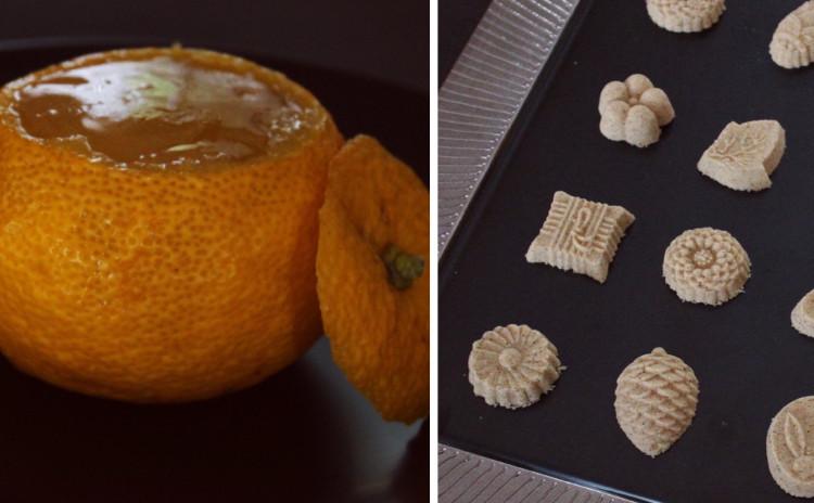 2月の和菓子レッスン♪「はっさく羹」「きな粉と黄身餡のお干菓子」