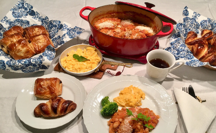 クロワッサン&パン・オ・ショコラ、フランスの家庭料理カスレのランチ付きレッスン