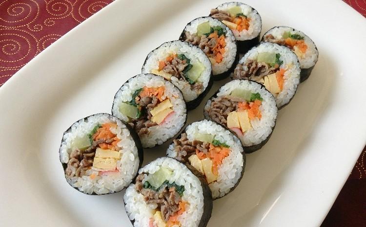 【お持ち帰り2品】本格白菜キムチ・牛肉キンパ・韓国風お汁粉