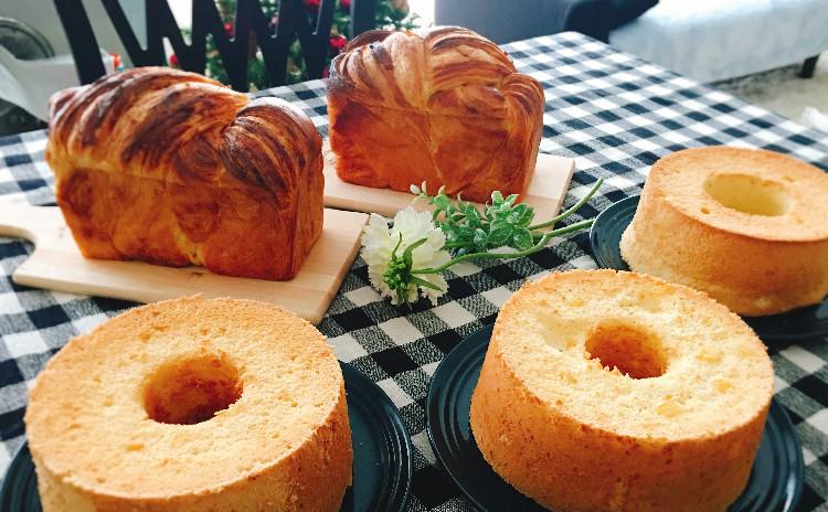 ディニッシュ食パン一斤とシフォンケーキ17cm(レシピ6点!大放出!!)