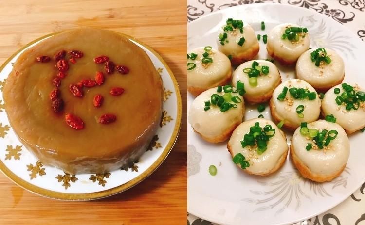 香港の旧正月のお菓子(年糕)と上海名物焼きショーロンポー(新レシピ)を作りましょう♪