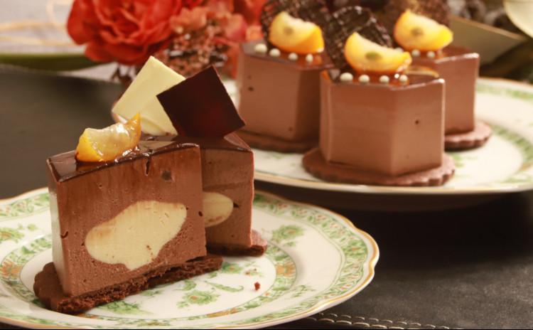 後味すっきり、チョコレートとパッションフルーツのムース&焼き菓子ティグレ