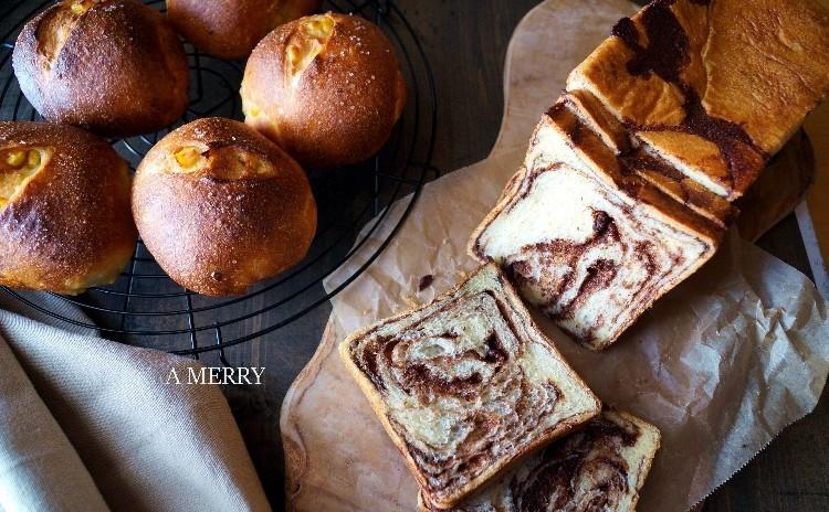 【ランチ付】コーンたっぷり香ばしい♡発酵バターのコーンパンとチョコシートから手作り♡チョコデニッシュ食パン