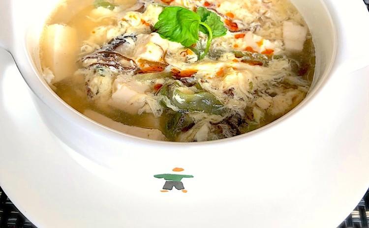 もずく酢中華スープ