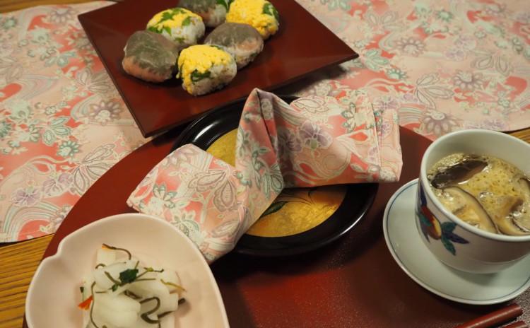 【料理教室:実習あり】テーブルを彩るひな祭り♪洋風手まり寿司&茶碗蒸し・大根のサラダ漬け