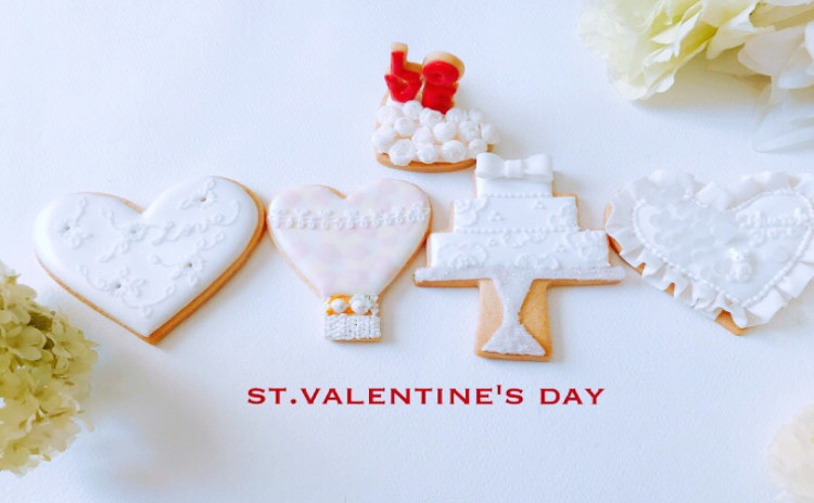 バレンタインアイシングクッキーレッスン♪ウェディングにも!