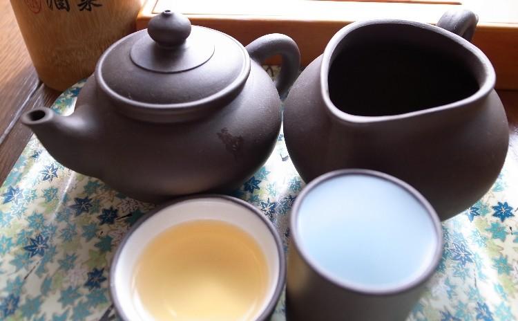 【飲茶・中国茶のプチお土産付き】柚子まん・海老と豚のジャンボ焼売・くるみ汁粉・工夫茶器で楽しむ中国茶