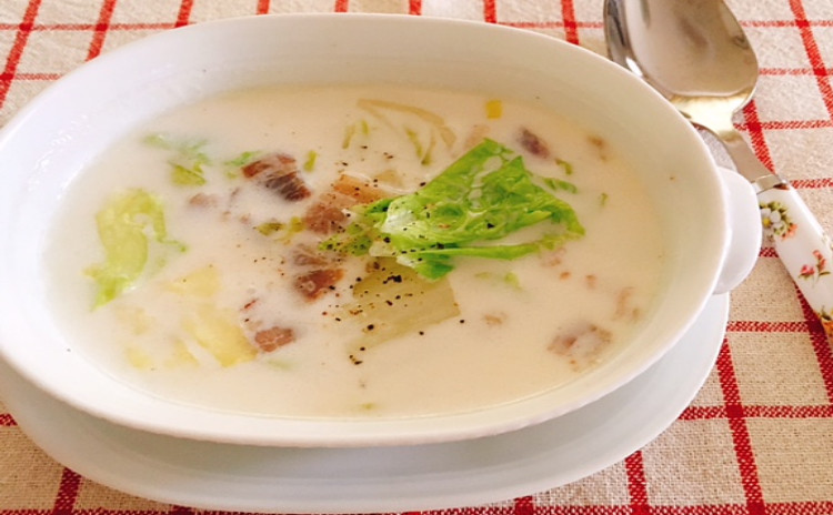 ホシノ酵母で作るオリーブペッパーブレッド&白菜とベーコンのミルクスープ 持帰り1本・生地2本分・酵母2本分付