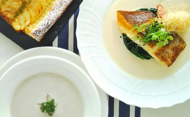 魚のおいしい焼き方をマスター!フランス料理の定番ソースと旬のリンゴを使ったパイ生地のデザートもご紹介