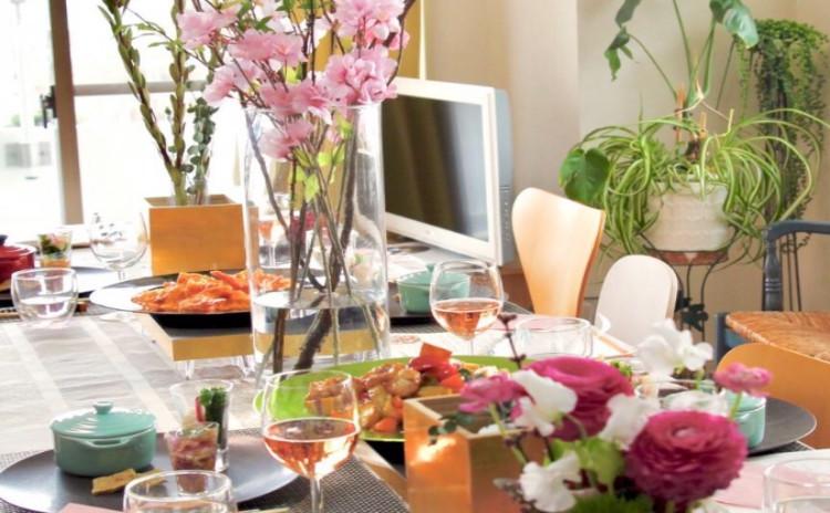 春満載!簡単お祝い御膳!          年に一度の和食レッスン!                     蒸しちらし寿司/しゅうまい/大根と鶏肉の甘辛炒め煮/菜の花のおひたし/