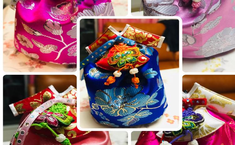 韓服香り袋(リクエスト)ビビンバ비빔밥.小松菜キムチ코마쯔나김치.もやしスープ콩나물국