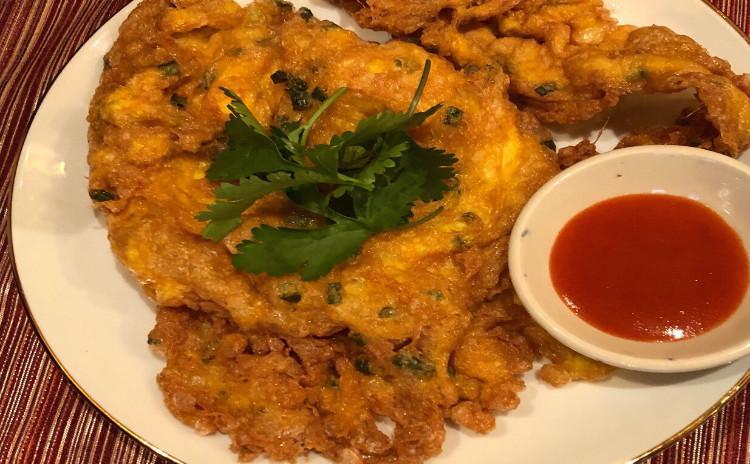 お家でレストラン。美味なグリーンカレー素麺素麺〜&生春巻き&卵焼き