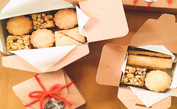 作りたい時にすぐ作れる!3種類のオリーブオイルクッキー!ジッパー付き袋だけで振るう、まとめる、型抜きまでやります♫ 復習セット付き(3種類の粉)