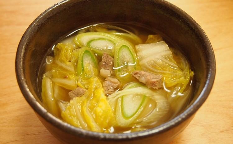 白菜の韓国味噌スープ
