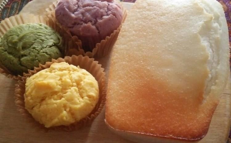*グルテンフリー、米粉ミニ食パン&カラフル米粉パン、米粉100%、無添加、乳、卵、白砂糖不使用