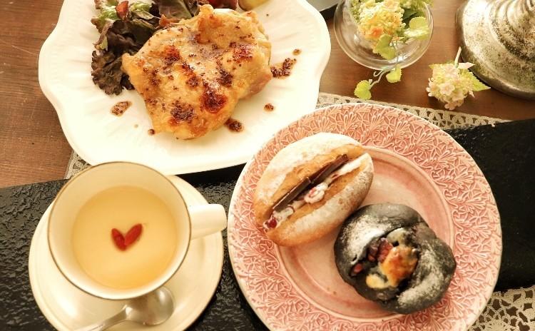 2月だものチョコたっぷりパン2種&ハニーマスタードチキン&ジンジャーミルクプリン♡