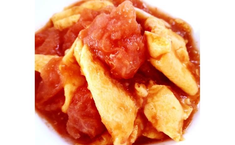 トマトと卵の炒め物(単品定価:4,000円)
