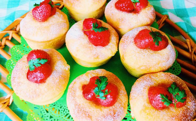 天然酵母でつくるいちごのタルトレットパン