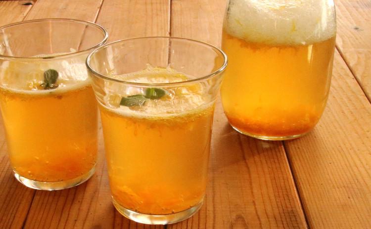 紅茶が香る柑橘スカッシュ