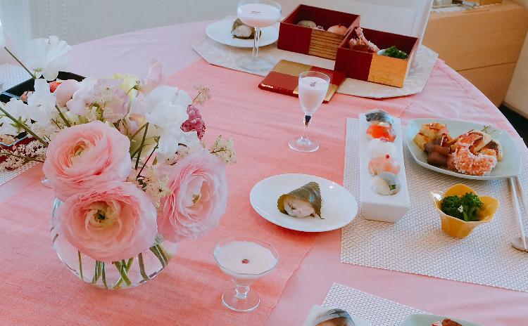 〜春満開〜手まり寿司のお花見弁当&桜餅