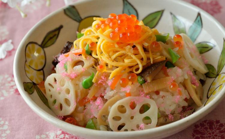 お魚の和風あんかけ&五目ちらし寿司♡定番にしたい副菜も盛り沢山♪春の和食献立です♪