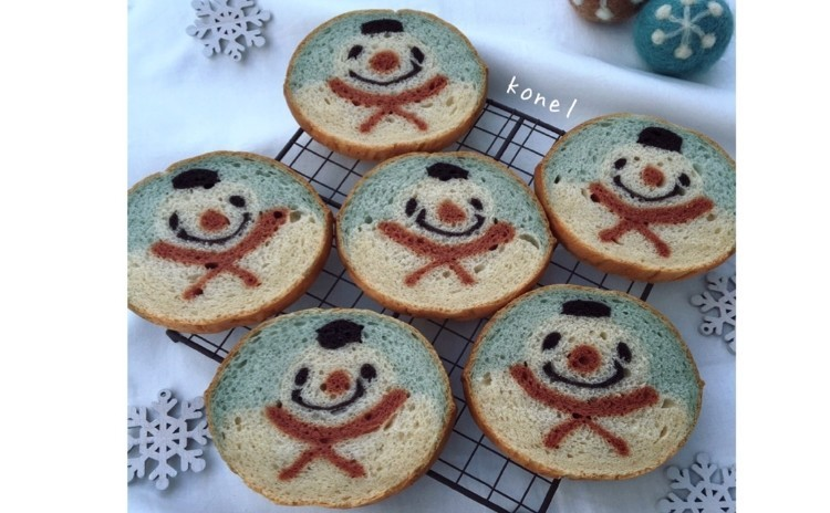 残1席!イラストパン考案者konelさんの『雪だるまのイラストパン』